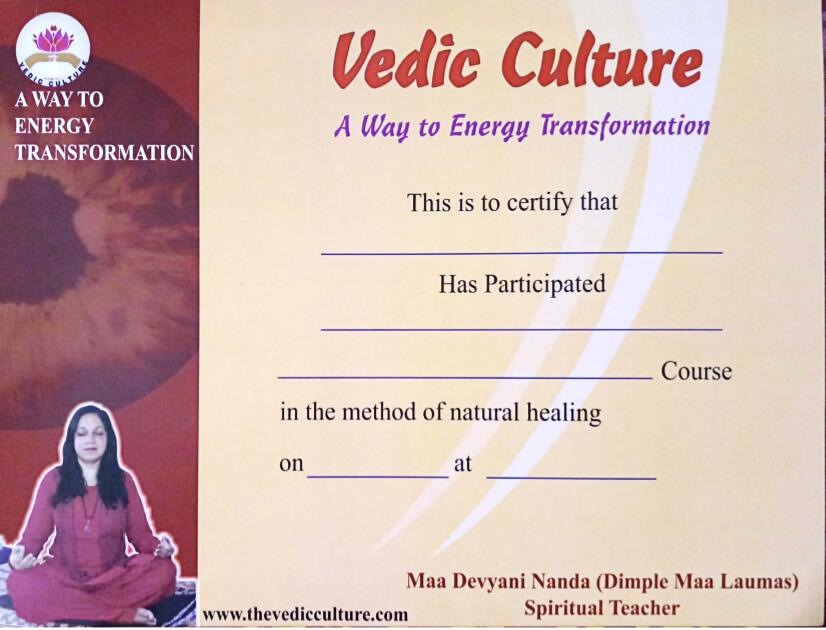 Certificate of Vedic Modalities