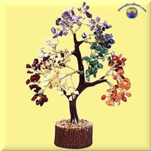 7 Chakra Gem crystal tree