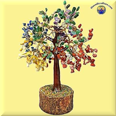 7 Chakra Reiki crystal tree