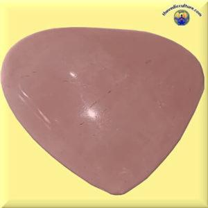 Rose quartz crystal heart meditation